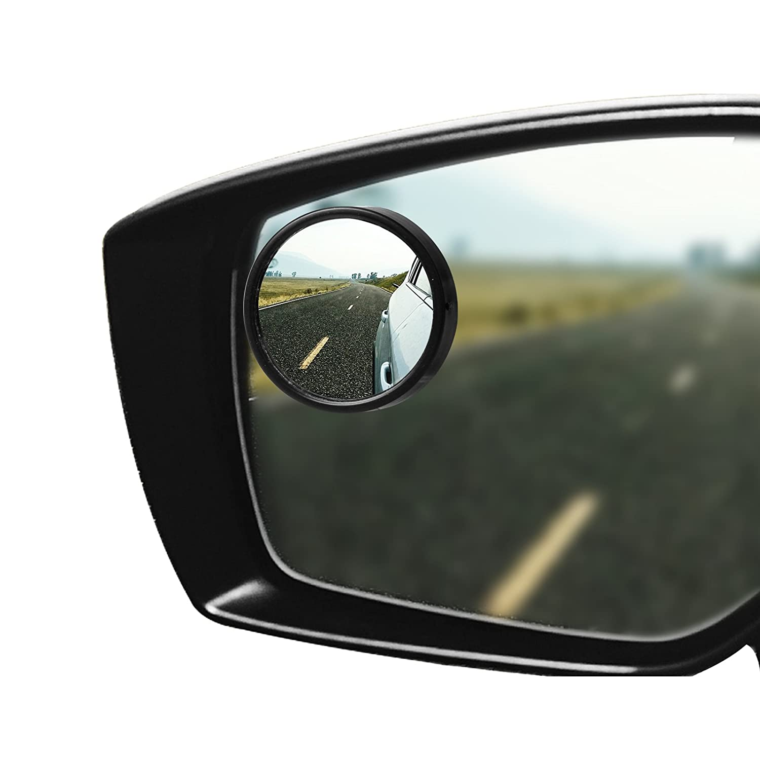 Blind Spot Mirror for Car, 2' Frameless Waterproof HD Glass Convex Rear View Mirror 360 Degree Rotate Self-adhesive Door Wing Mirror for Car SUV Trucks and More Pack 2 (Frameless) MRCARTOOL