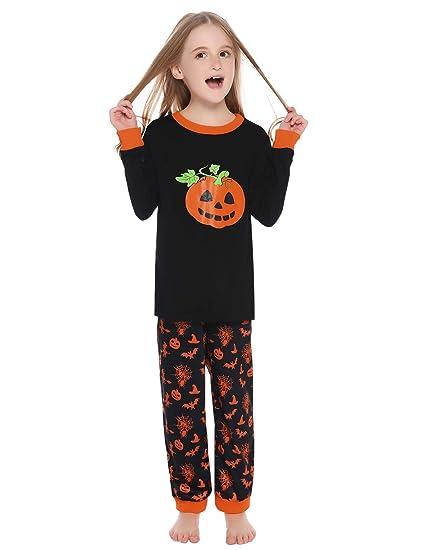 Hawiton Algodon Invierno Calabaza Halloween Disfraz Pijama Niño ...