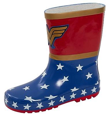 nuovi prezzi più bassi classico nuovi prodotti DC Comics Wonder Woman - Stivali di Gomma per Bambini, per Pioggia ...