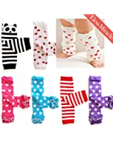 Elesa Miracle 6-pack Baby & Toddler Cozy Soft Leg Warmers, Kneepads Value Set