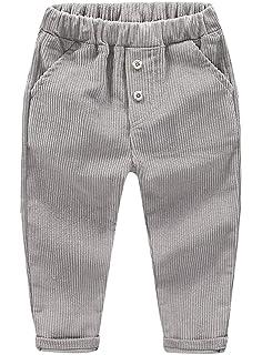 aef5a1174b0 ZETA DIKES Boy s Corduroy Pants Elastic Waist Pants Casual Fit Pants 4  Colors