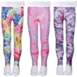 LUOUSE Multipack Cute Printed Girls Stretch Leggings Ankle Length 4-13 Years
