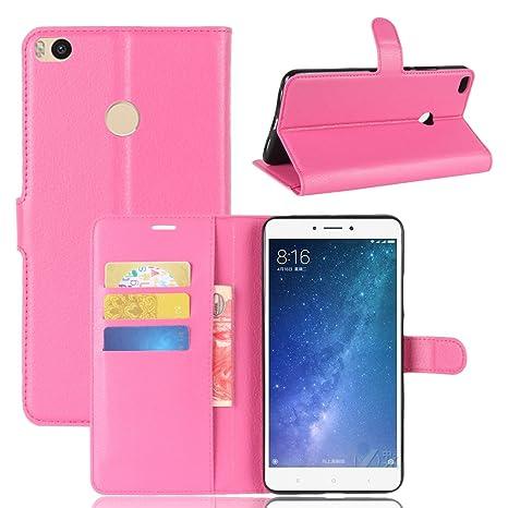 Nadakin Xiaomi Mi Max 2 Calidad Premium Cartera de Cuero con Carcasa de Teléfono Flip Funda con Soporte Magnetico de Cierre para Xiaomi Mi Max 2(Rosa ...