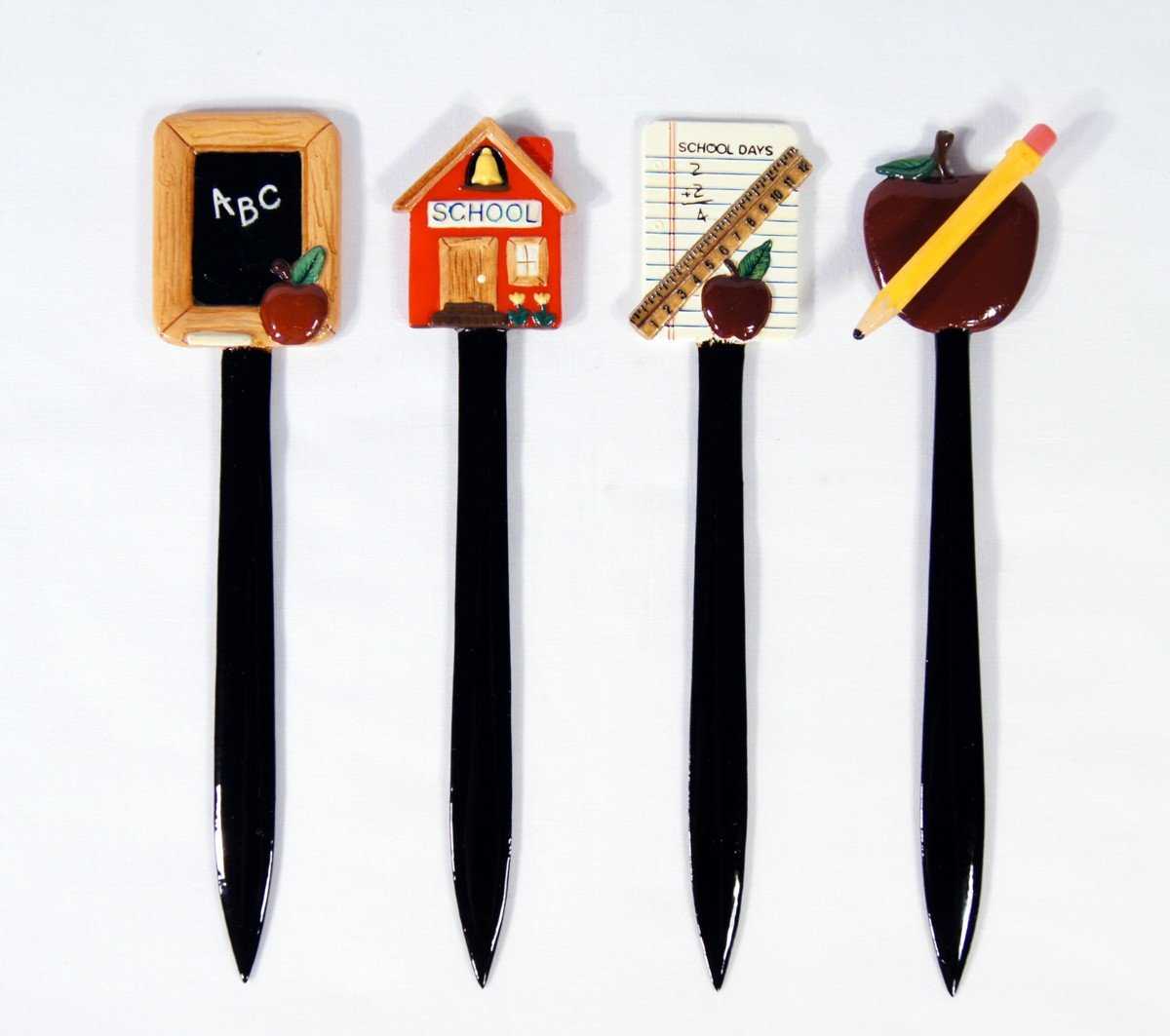 Wholesale Pack Hand Painted Letter Opener Assorted Teacher School (Set of 4)