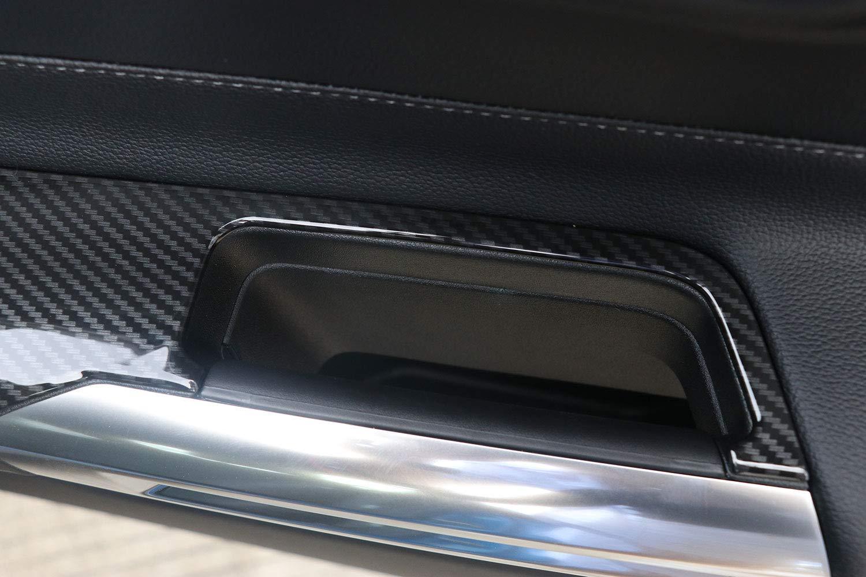 Linkslenker Kohlefaser Stil T/ürgriff Fensterheberknopf Dekoration Rahmen Trim f/ür Mustang 2015 2016 2017 2018