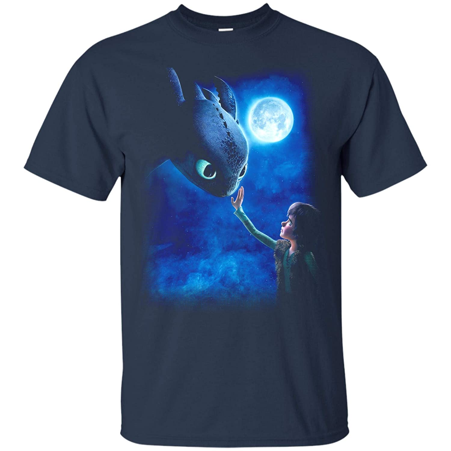 6e7b626c3 Amazon.com: How to Train Your Dragon Toothless Night Fury T-Shirt: Clothing