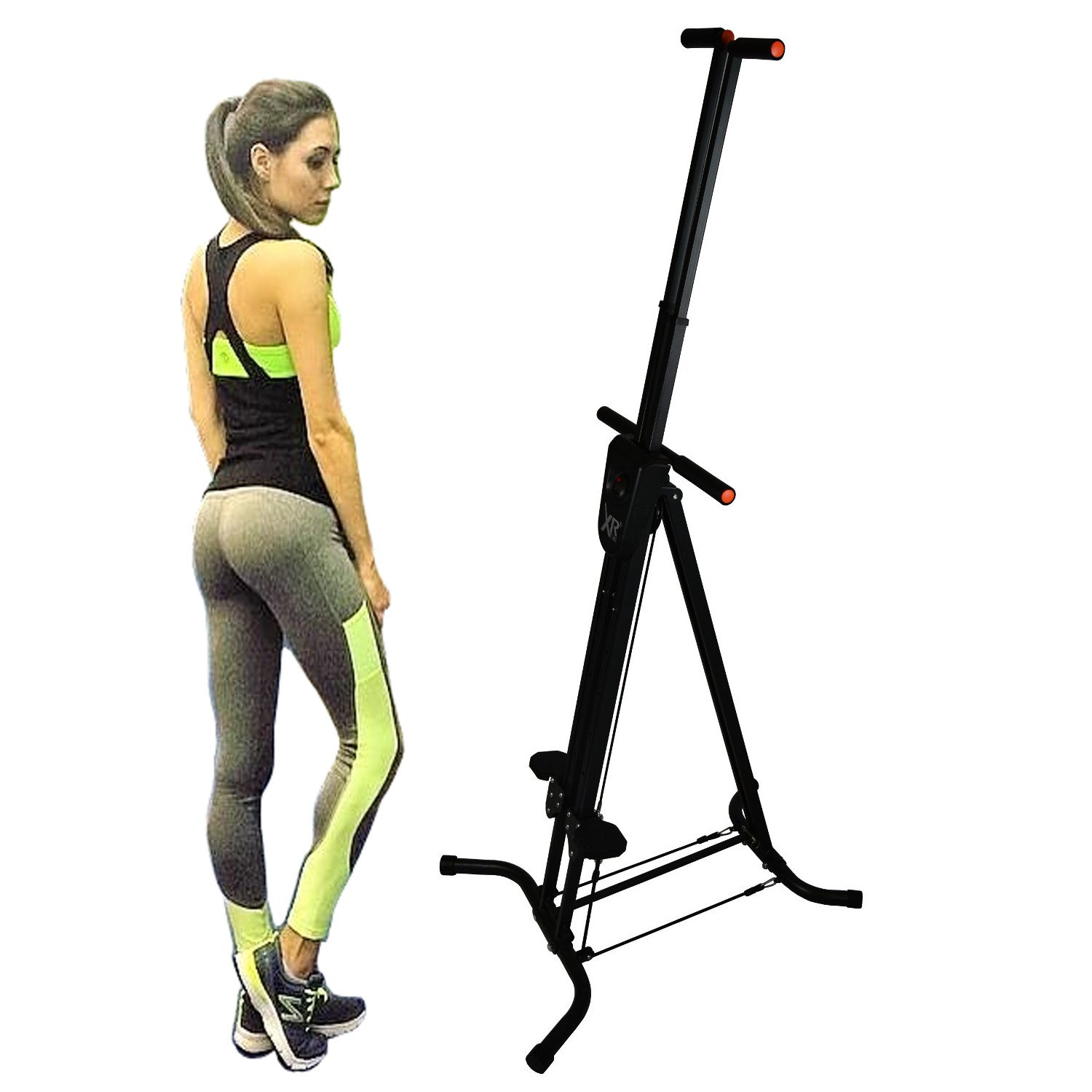 17fe3a93f59 Amazon.com   XR Vertical Climber with Resistance Cords Cardio Stepper  Exercise Workout Machine   Sports   Outdoors