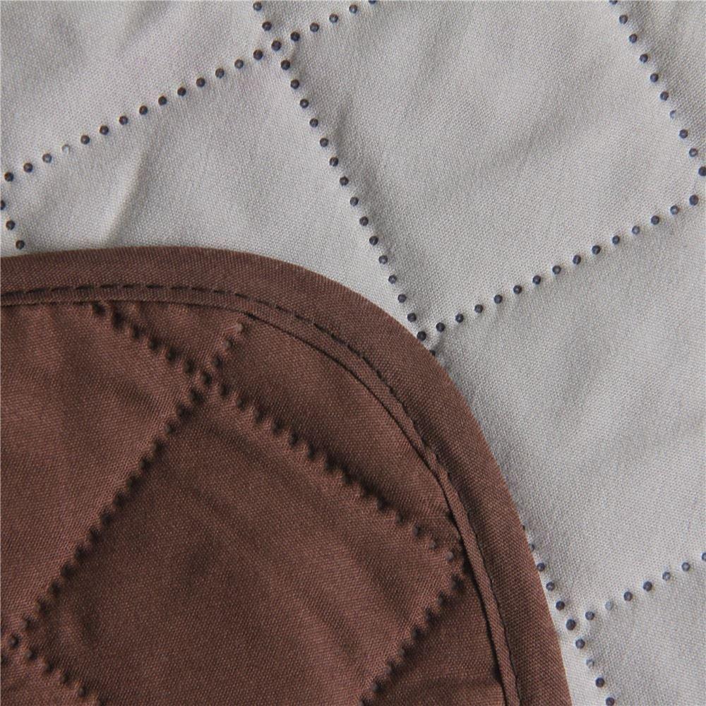 Safari Homeware Cubre Chocolate / Marrón para Sofás de 3 Plazas - Protector para Sofás Muebles Acolchado de Lujo