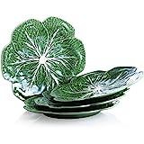 Bordallo Pinheiro Cabbage Green Dinner Plate, Set of 4
