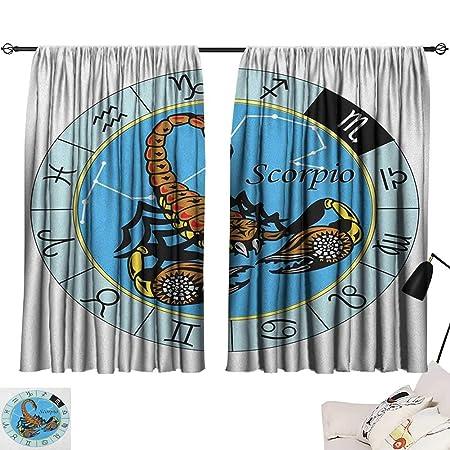 Cortina de ventana impermeable con diseño de zodiaco escorpio ...