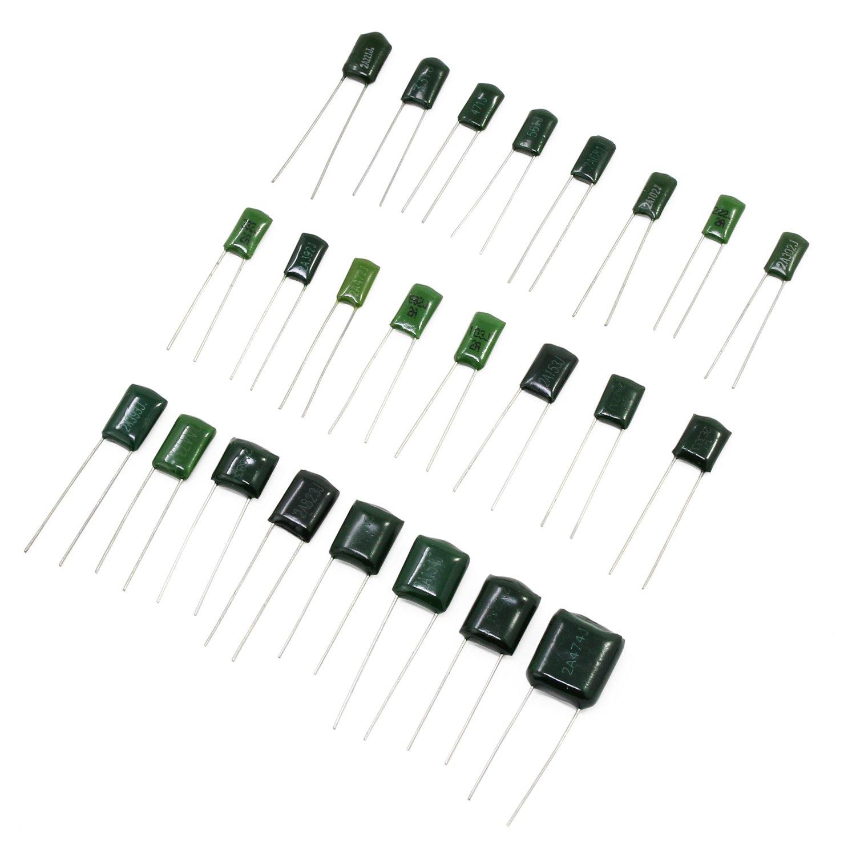 Aussel 24 Value 500pcs Electrolytic Capacitor Assortment Box Kit Range