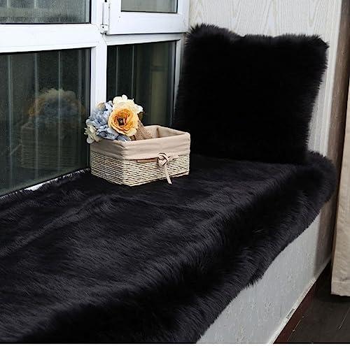 Fashion Suit Luxury Premium Faux Fur Sheepskin Fluffy Shaggy Area Rug Chair Window Cover Sofa Bedroom Floor Pad Rug