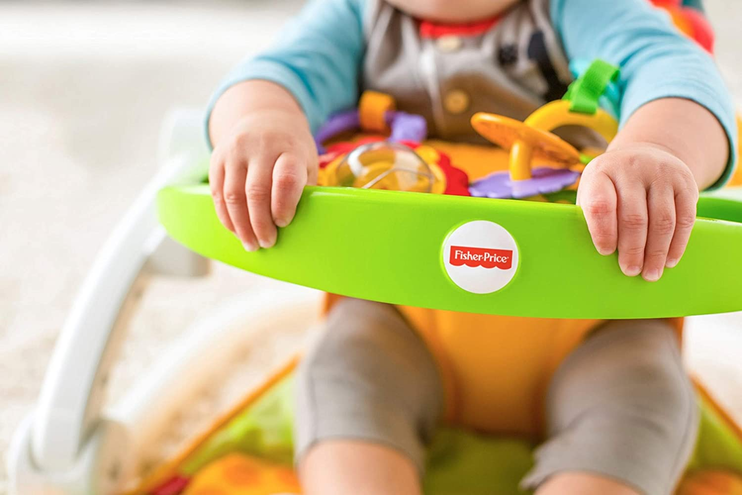 Fisher-Price Sit-Me-Up Floor Seat with Toy Tray Happy Hills