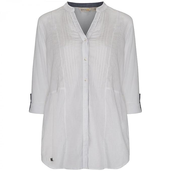 Regatta - Blusa con Botones Modelo Madison para Mujer (42/Blanco)