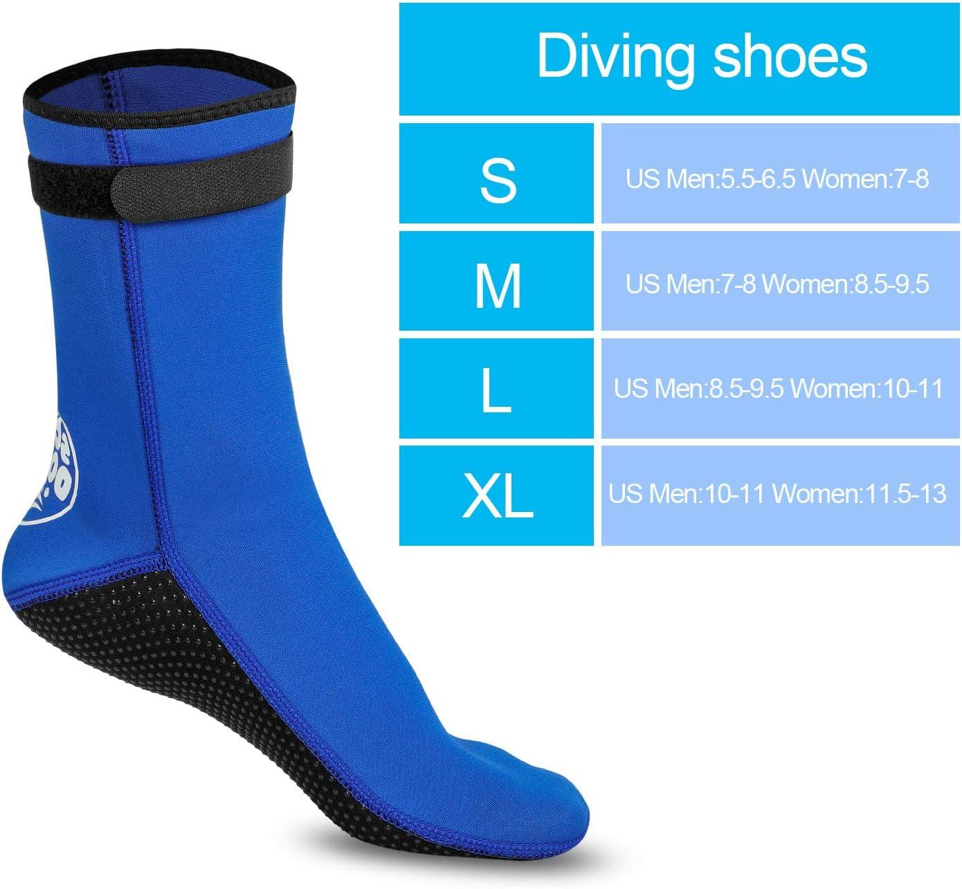 3 mm per la Spiaggia Scarpe da Nuoto Tuta in Neoprene Costume da Bagno subacqueo Calzini da Immersione Grandnessry
