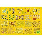 Brinquedo Pedagógico Madeira Montando os Números 1 ao 20 Brincadeira de Criança