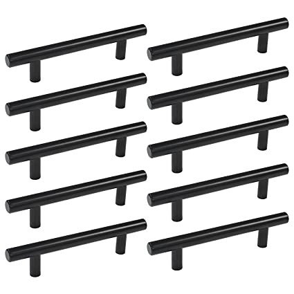 3.5 Inch Kitchen Drawer Pulls Black 10 Pack   Homdiy HD201BK Vintage  Bathroom Storage Cabinet Hardware