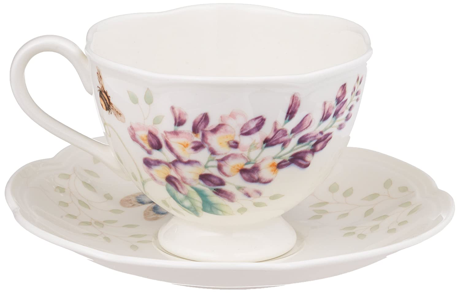 Lenox Butterfly Meadow Blue Butterfly Cup and Saucer Set