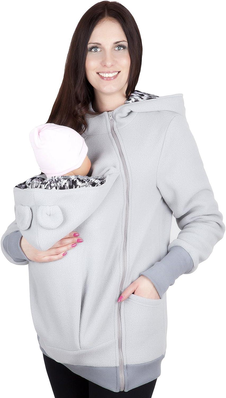 Mija Sudadera con Capucha Caliente de Lana Polar de Maternidad//Su/éter para Dos//para portadores de beb/é 4019A