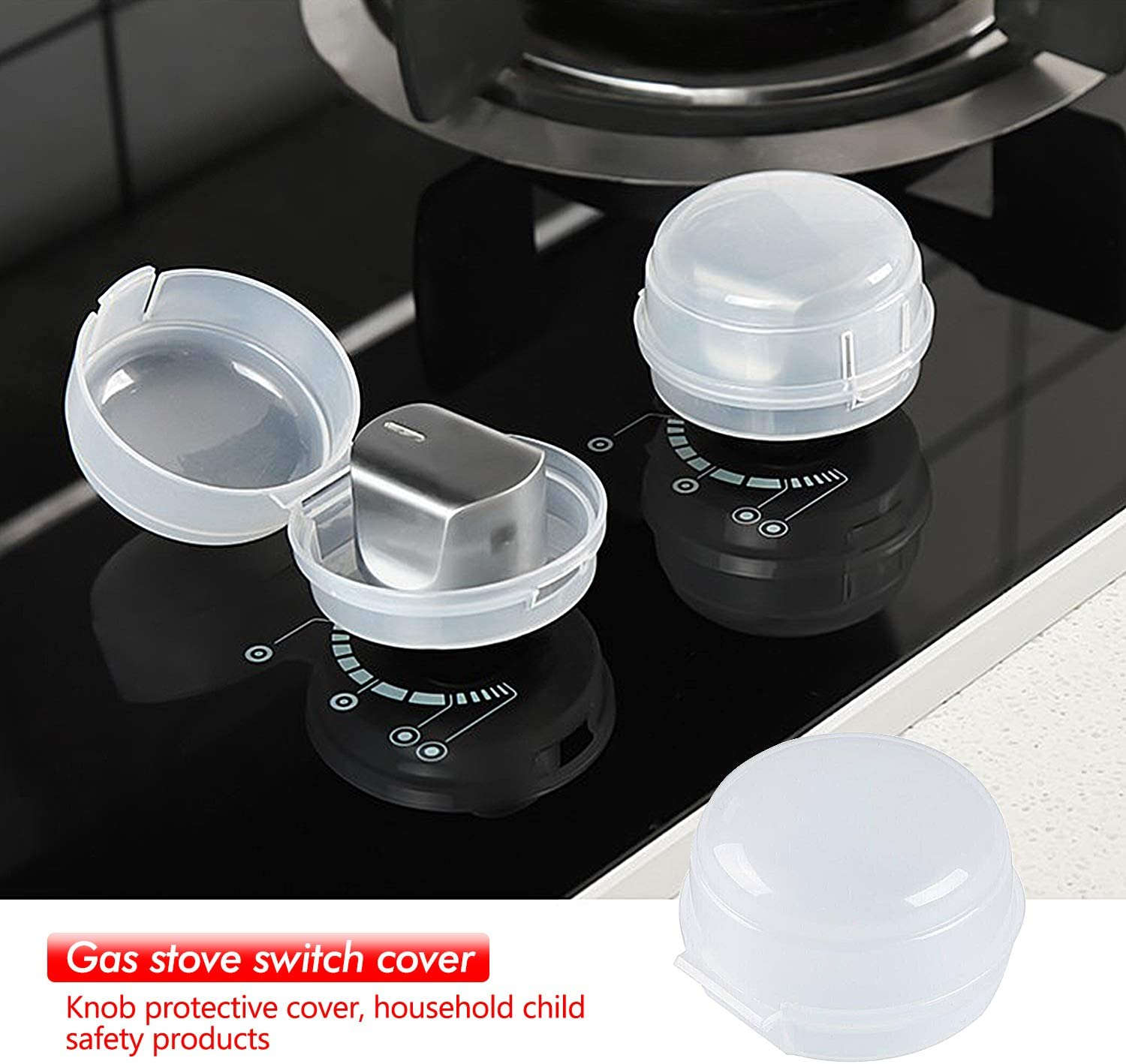 SANTOO Kitchen Gas Stove Knob Covers Stove Guards,Heat-Resistant Oven Knob Lock for Baby Safety