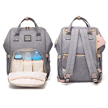 Portable Travel Storage Bag Large Mummy Baby Diaper Nappy Backpack Mom Changing