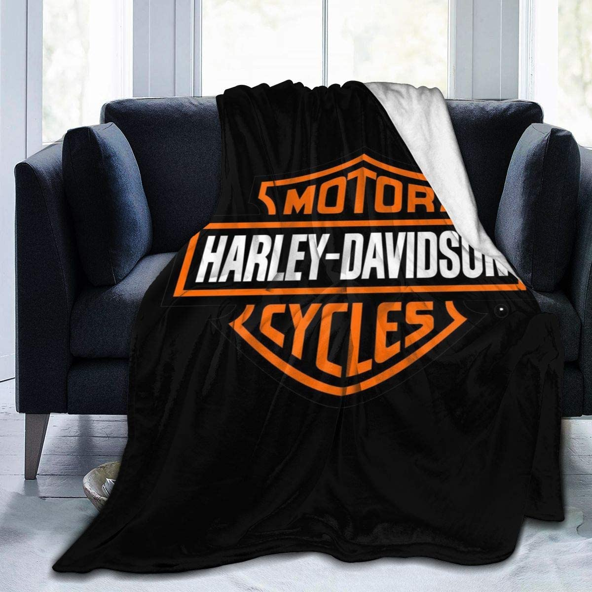 Harley Davidson 3D Direction Soft and Warm Throw Blanket