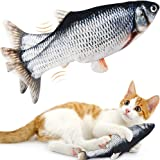 Moving Catnip Fish Cat Toys, LANKA Realistic Plush Simulation Electric Wagging Fish Toys for Cat, Catnip Kicker Toys…