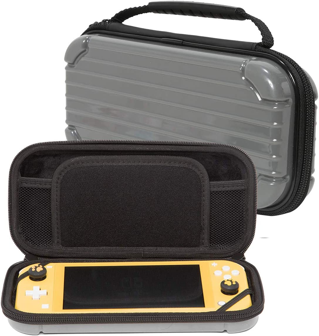 Travel Case for Nintendo Switch, Portable Hard Shell Travel Carrying Bag, Switch Waterproof Case Cover with Storage for Switch Console & Accessories & Game Cards-Gray