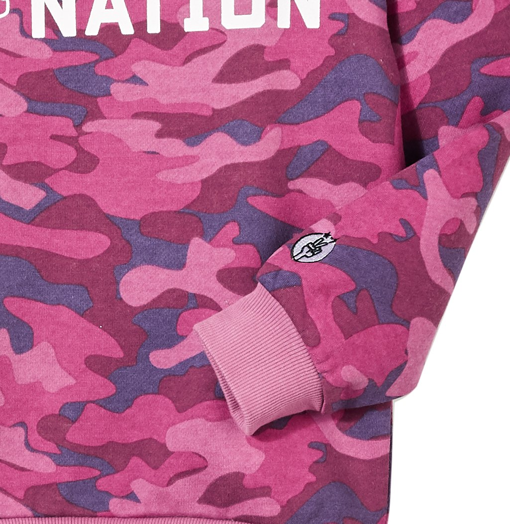 Kid Nation Kids' Allover Printed Graphic Camo Pullover Sweatshirt for Boys Or Girls L Purple … by Kid Nation (Image #2)