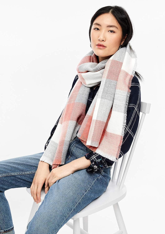 s.Oliver RED LABEL Damen Kuscheliger Schal im Karo-Design