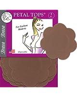 Braza Petal Tops - Disposable Nipple Covers - Cocoa