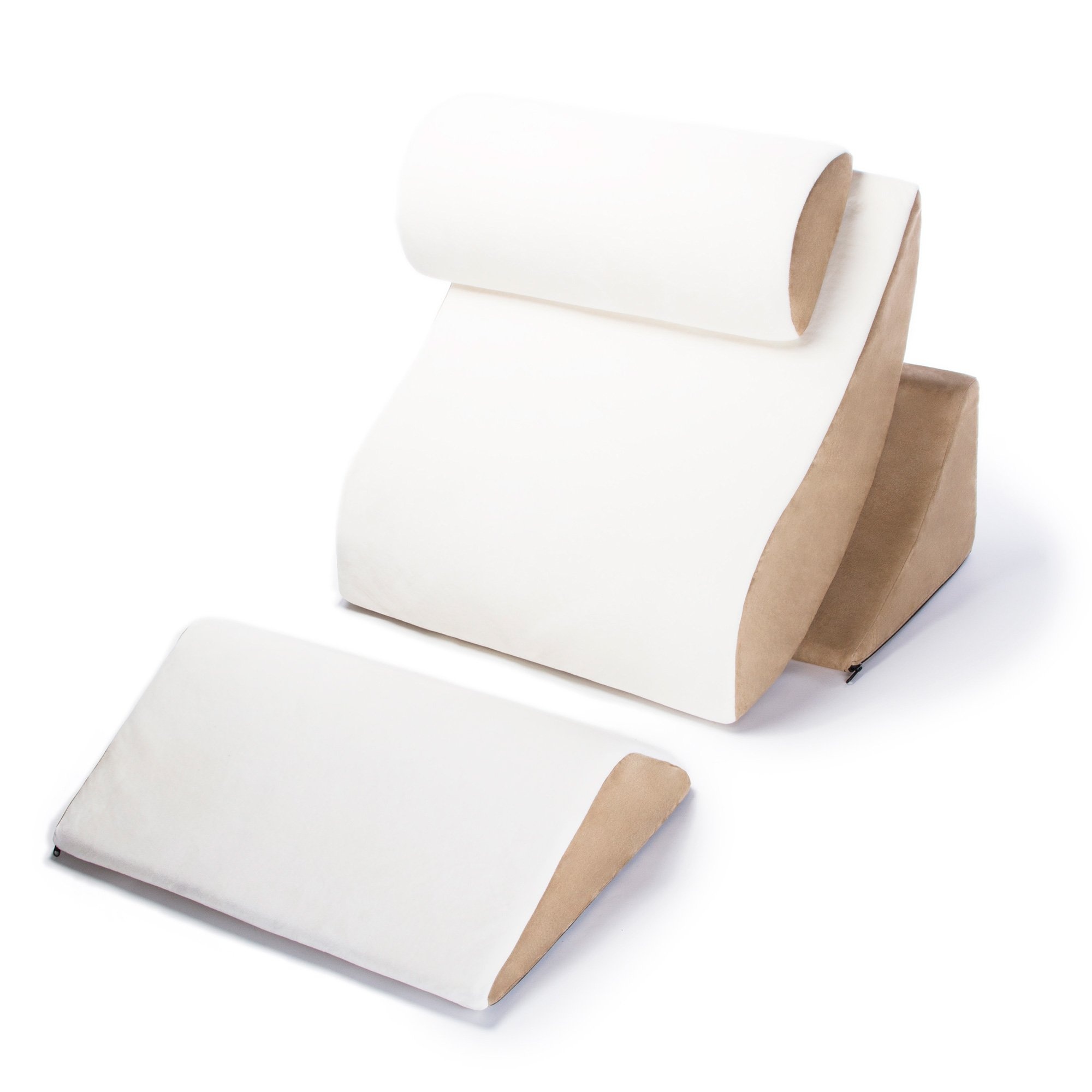 Avana Kind Bed Orthopedic Support Pillow Comfort System, Cloud/Camel, Complete Comfort System by Avana (Image #1)