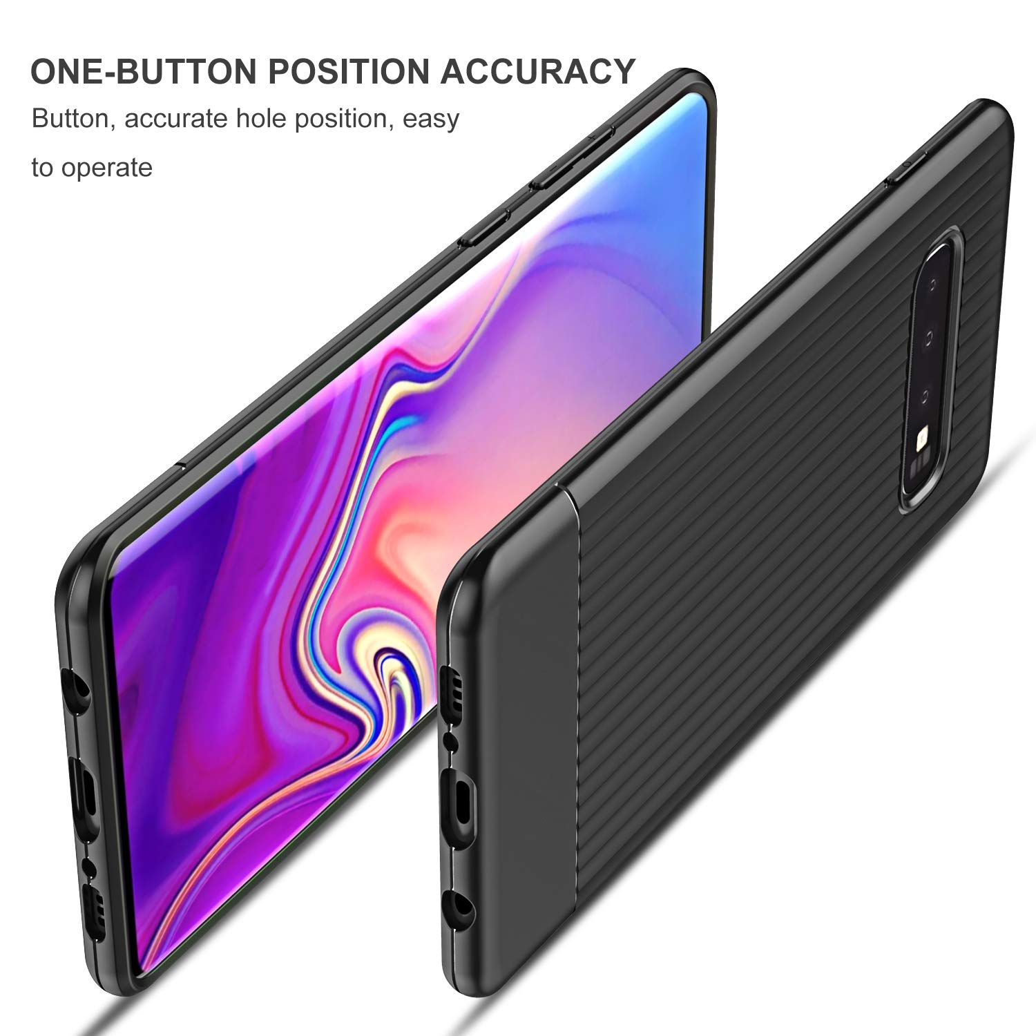 Amazon.com: QITAYO Compatible with Samsung Galaxy S10 Plus, S10 Plus Case with Heavy Duty Protection and Vertical Stripes Case Back, TPU Soft Slim Case for ...