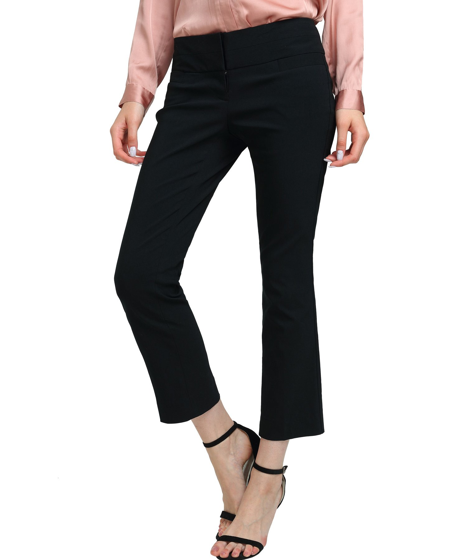 Women's Bootcut Stretch Dress Pants Fit Stretchy Trousers Basic Office Stretch Pants
