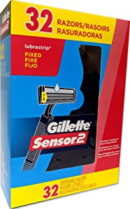 Gillette Sensor2 Fixed Razors 32 Count