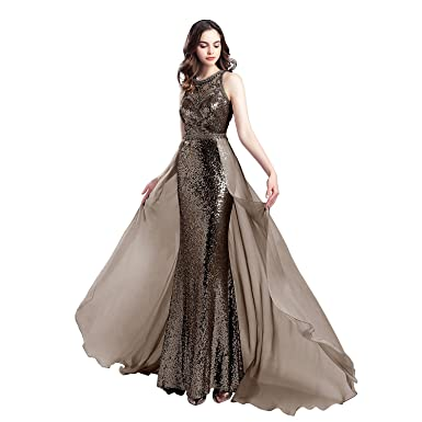 Katharina Shop Womens Evening Dresses Sequin Crystal Beads Mermaid Prom Dresses Floor Length KS057