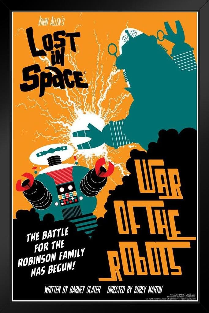 Lost in Space War of The Robots by Juan Ortiz Art Print Framed Poster 14x20 inch Poster Foundry