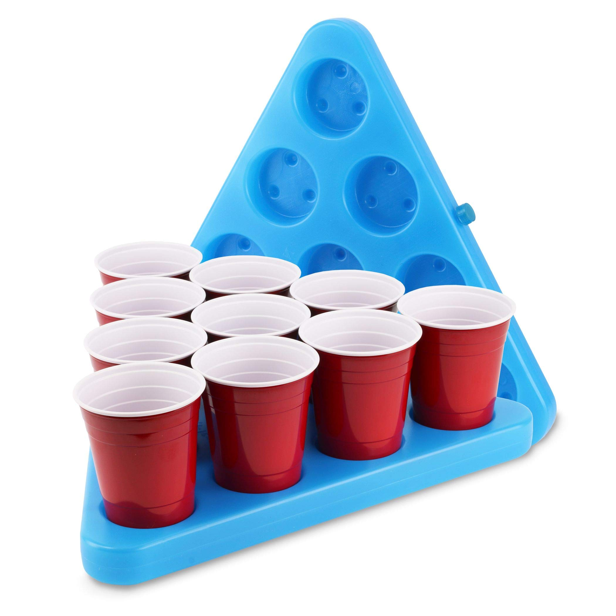 Aromzen N-Ice Rack Freezable Drinking Beer Pong Party Rack Set, Includes 2-Racks, 3-Balls and Game Rules