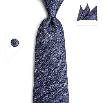 KYDCB Azul Marino Corbatas Blancas Corbatas Hanky Corbatas Corbata ...