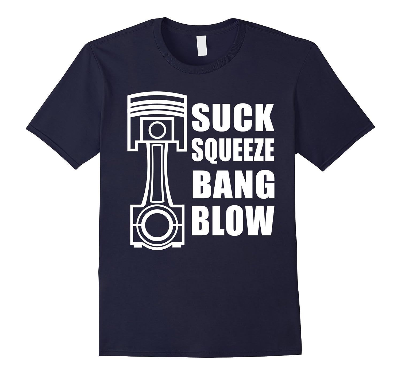 Cool Auto Automotive Mechanic Engine Piston Graphic T-shirt-TH
