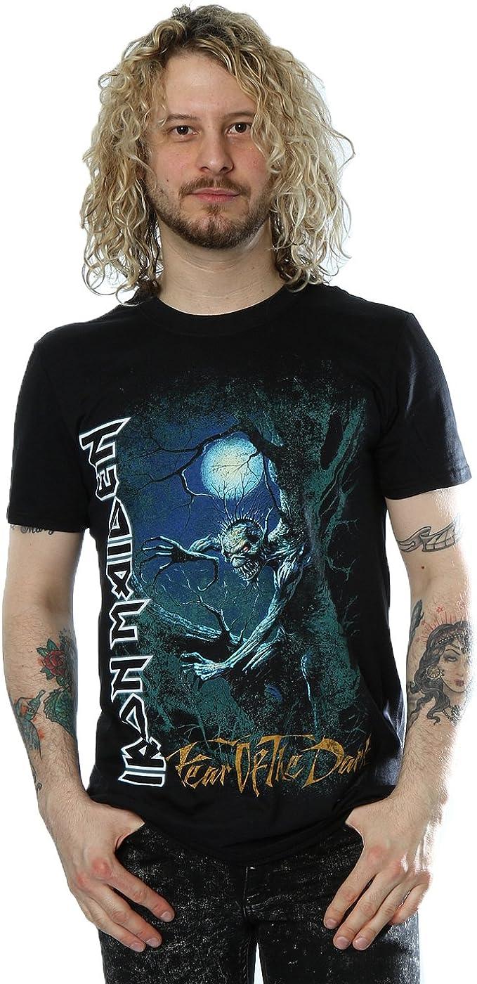 Iron Maiden Fear of The Dark Tree - Camiseta oficial: Amazon.es: Ropa y accesorios