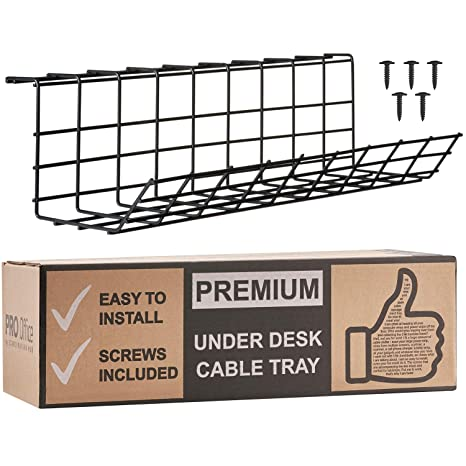 amazon com under desk cable management tray cable organizer for rh amazon com under desk cable management box under desk cable management reddit