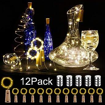 Luz de Botellas 12 Paquetes BIG HOUSE 2M 20 LEDs Alambre de Cobre ...