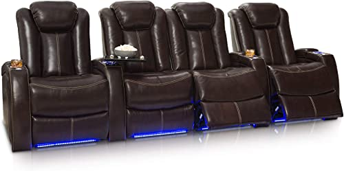Seatcraft Delta Home Theater Seating Leather Power Recline