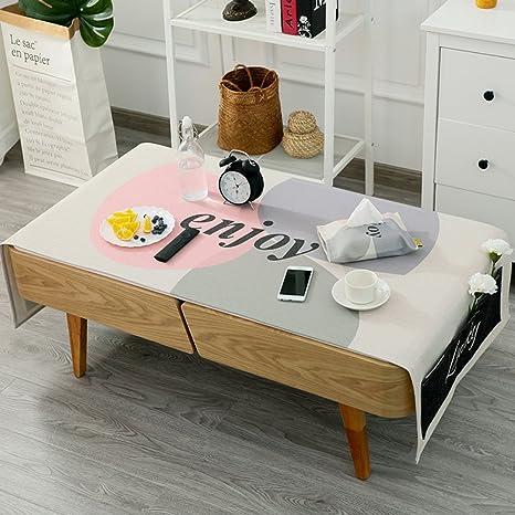 Amazon.com: Cotton-linen table cloth Nordic coffee table ...