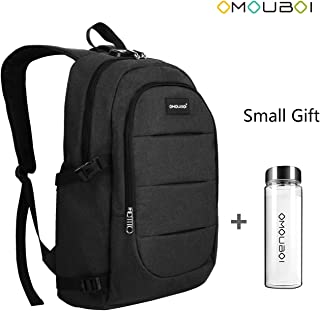 Laptop Backpack Anti Theft Waterproof Travel Backpack Laptop Notebook by OMOUBOI US-SOB-608M-CUP-BK