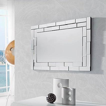 Dugarhome Espejos Modernos Cristal Delia Rectangular 88x60 - Espejos-modernos
