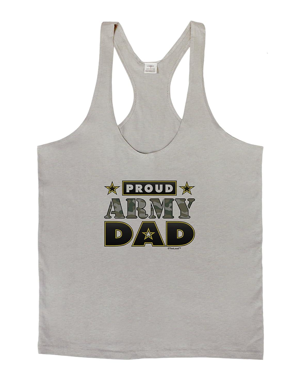 LOBBO TooLoud Proud Army Dad Mens String Tank Top
