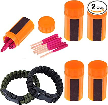 20Pcs Portable Windproof Matches Camping Hiking Emergency Equipment Survival Acc