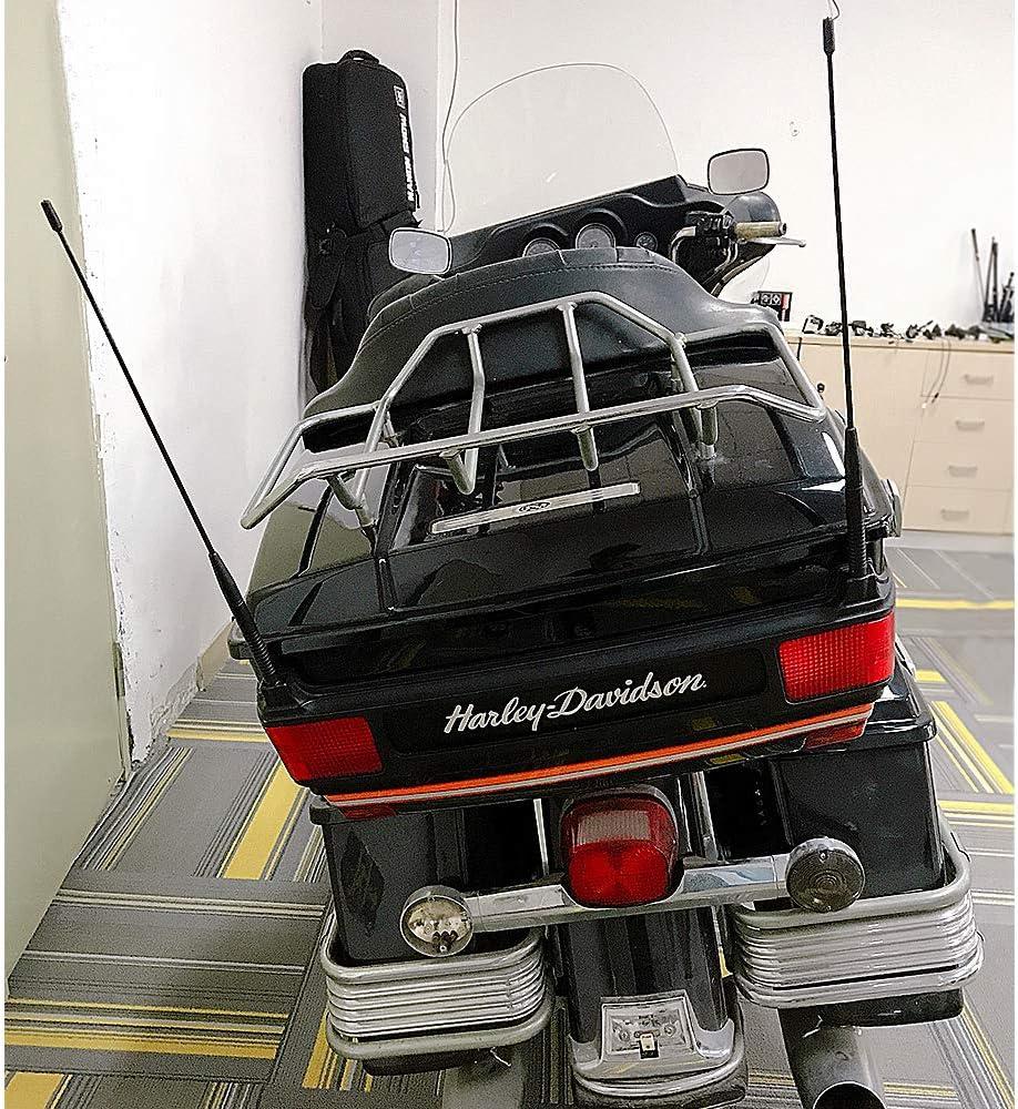 VOFONO 4 inch Spiral Short Antenna for 1989-2019 Harley Davidson Touring Electra Road Street Glide Trike Ultra Classic CVO